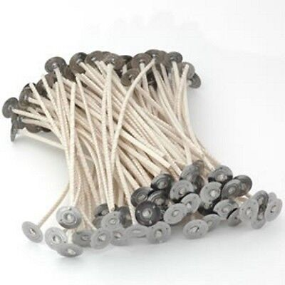 CANDLE wicks 150mm pretabbed wicks HTP CDN various sizes  ideal for Soy wax