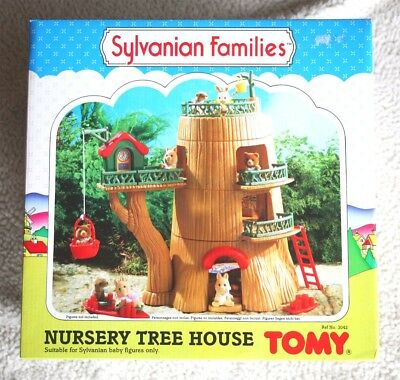 Sylvanian Families: Guarderia (Nursery Tree House), Tomy 1985. New In Box, Os!