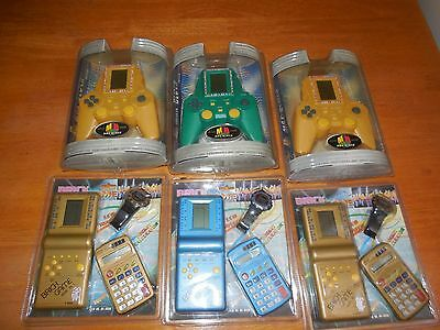 retro HAND HELD  6 games new old stock vintage SEALED 6 packets