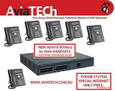 NEW Avaya IP Office Telephone System PABX IP500 v2 + 6x 9504 Phones & Voicemail