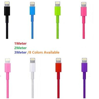 2M 3M Charging lead charger USB Data cable for iPhone 6 5C/S iPod Nano iPad mini