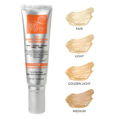 Suntegrity 5 in 1 Natural Moisturizing Face Sunscreen Tinted Medium USED ONCE