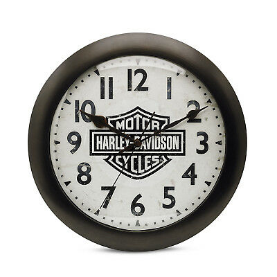 Genuine Harley-Davidson Bar & Shield Logo Silent Wall Clock 99204-16V