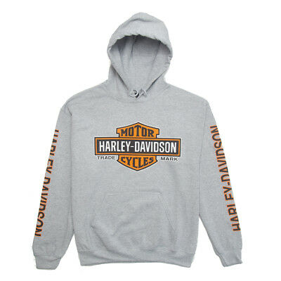 Harley Heaven Elongated B&S Pullover Sports Grey L/S 30299144