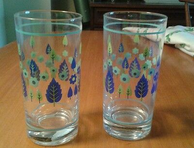 Vintage Marcrest Alpine Swiss Tall Tumbler Pair Near Mint Mid Century Modern HTF