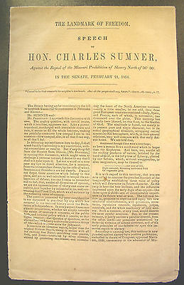1854 Senate Speech Against the repeal of the Missouri Prohibition of Slavery
