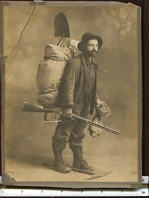 Silver Miner Photograph Owner Papurel & Graham Mountain Mining Stock Certificate