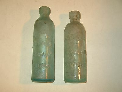 2~rare 1880-90s ATLANTA GEORGIA~BLOB TOP BOTTLES~ HTF~LOOK