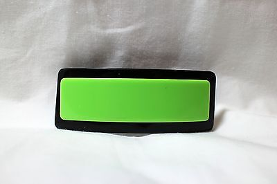 """New Vintage Bright Green Lucite 3 1/2"""" x 1 1/4"""" Hair Barrette French Clip"""