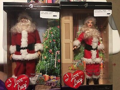 Mattel I LOVE LUCY -Ricky And Lucy As Santa-the Christmas show Dolls