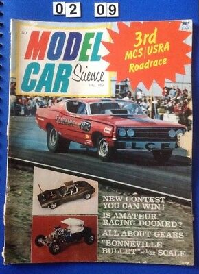 Model Car & Science Magazine July 1969 68 Pages. Slot Cars etc