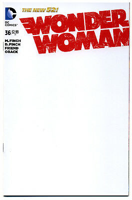 DC Wonder Woman (2011) # 36 BLANK Sketch Cover Variant -