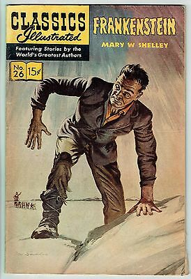 CLASSICS ILLUSTRATED #26 FRANKENSTEIN by Mary W. Shelley - June 1964 - VG