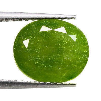 4.64 Ct Oval cut 10 x 9mm Idocrase Vesuvianite Hydro Grossular Garnet