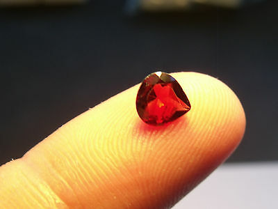 0.20Ct MARVELOUS FIRE NATURAL  RED  GARNET