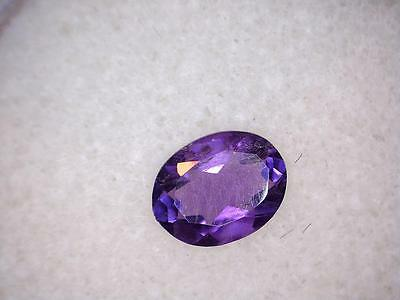 0.87Cts Oval Purple Natural Untreated Amethyst Loose Gemstone