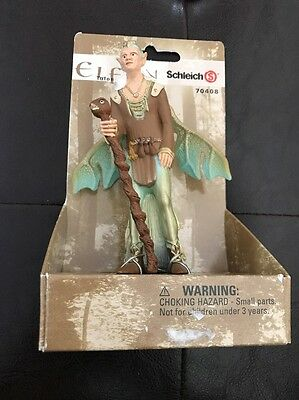 "Schleich World Of Elves Tulon 70408 Elf 4.5"" Elfen Figure Oracle Guardian NEW"