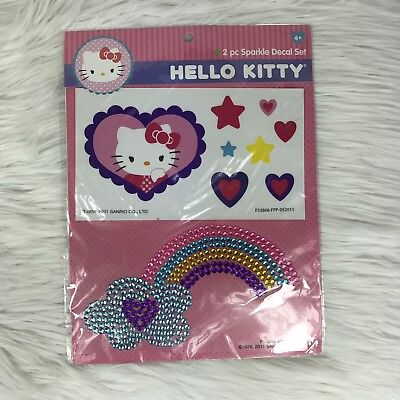 Hello Kitty Sparkle Decal Set With Stickers
