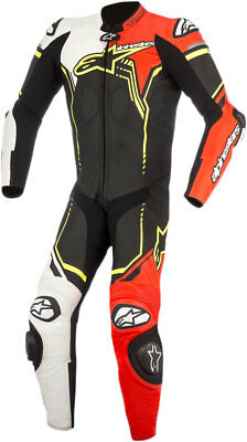 Alpinestars 2018 GP PLUS 1-Piece Race/Track Riding Suit (Black/White/Red/Yellow)