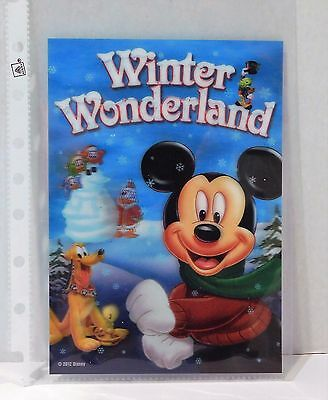 WINTER WONDERLAND Disney Movie Club 3D Lenticular Card RARE Collector