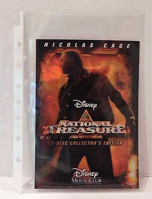 NATIONAL TREASURE / NATIONAL TREASURE 2 Disney Movie Club 3D Lenticular Card
