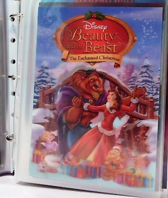 BEAUTY AND THE BEAST THE ENCHANTED CHRISTMAS Disney Movie Club 3D Lenticular