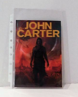 JOHN CARTER Disney Movie Club 3D Lenticular Card Collector Rare