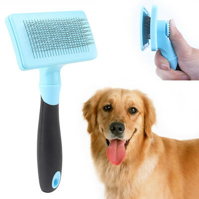 Pet Dogs Cats Hair Grooming Slicker Brush Shedding Soft Bath Hair Cleaning Tool