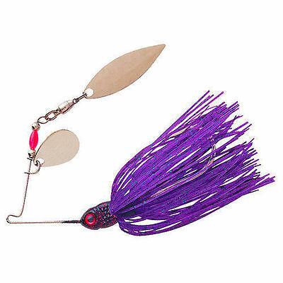 Booyah Pond Magic Spinnerbait - 3/16 Oz - Junebug, Bass Redfin Yellowbelly Lure