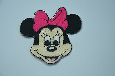 MINNIE MOUSE WITH PINK BOW DISNEY  Embroidered Sew On Cloth Patch Badge APPLIQUE