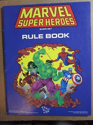TSR Marvel Super Heroes Role Playing Game Basic Set Rule Book 1991 Blue
