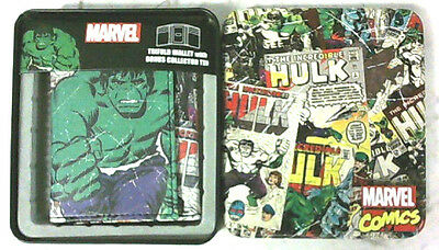 Marvel Comics The Incredible Hulk Genuine  Leather Trifold Wallet With Box