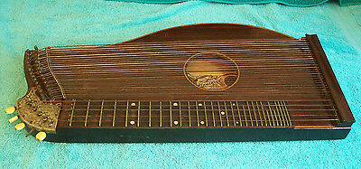 Vintage Franz Schwarzer Guitar Concert Zither Harp Stringed instrument used cond