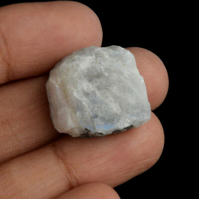 Amazing Certified 39.50 Ct.Natural White Rainbow Rough Loose Gemstone AU-506