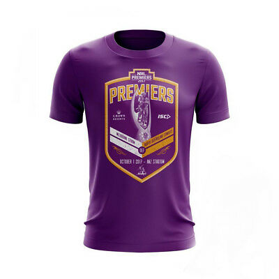 Melbourne Storm 2017 NRL Mens Kids Premiers Tee Shirt BNWT Rugby League Clothing