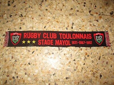 echarpe scarf RCT RUGBY CLUB TOULONNAIS  TOULON PALMARES  MAYOL VAR