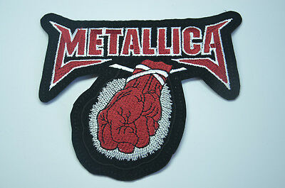 METALLICA ST. ANGER RED FIST 14cm  Embroidered Sew Iron On Cloth Patch Badge