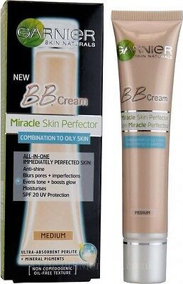 Garnier BB Cream Skin Perfector Oil Free Combination Oily Skin SPF20 40ml Medium