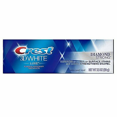 Crest 3D White Luxe Diamond Strong Toothpaste Brilliant Mint 3.5 oz