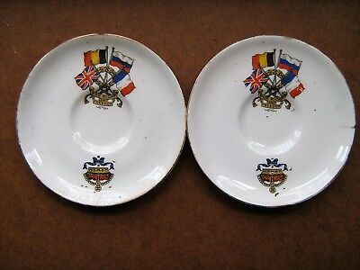 2 FOR RIGHT & FREEDOM 4 & 3/4 inch SAUCERS