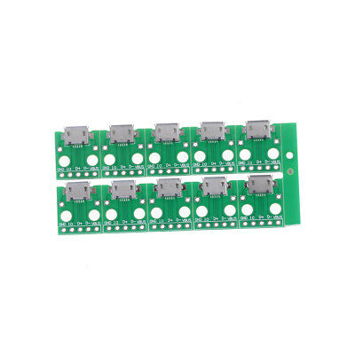 10Pcs Micro USB to DIP Adapter 5pin Female Connector B Type PCB Converter FR
