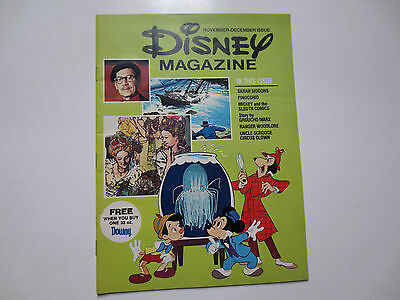 1976 Disney Magazine (Nov-Dec) Mickey and The Sleuth Comics, Pinocchio