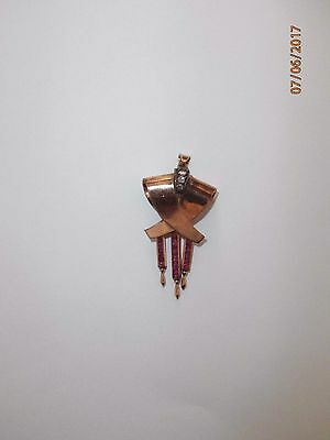 14 ct GOLD PENDANT COVERED WITH 3 OLDCUT DIAMONDS 0.08 ct & 16 RUBIES 0.70ct