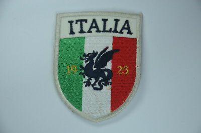ITALY ITALIA 1923 FLAG SHIELD Embroidered Sew Iron On Cloth Patch Badge APPLIQUE