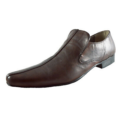 Red Tape Mens Orwell Leather Slip On Smart Casual Formal Dress Shoes Brown