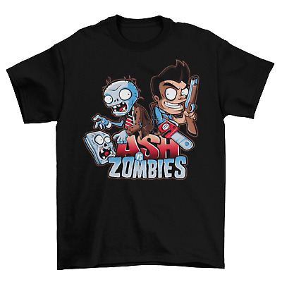 Evil Dead Plants vs Zombies T-Shirt Unisex Funny Groovy Ash Halloween Sizes New