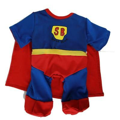 "SUPERBEAR SUPERMAN ALL-IN-ONE OUTFIT FOR 16""/40cm TEDDIES & BUILD YOUR OWN BEARS"