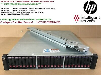 HP P2000 G3 7.2TB 6G SAS Dual Controller Array with Rails AW592A