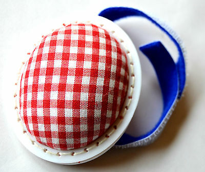 Pin cushion Pincushion with touch fastener red