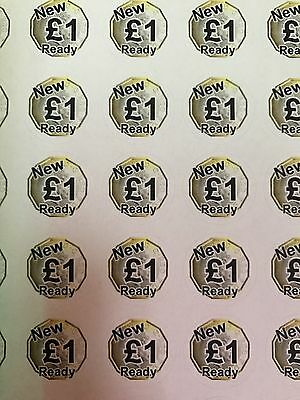 Ready for New £1 Coin Stickers Gaming Vending Coin Acceptance.